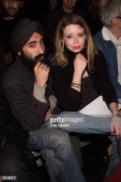 Natasha Lyonne with friend attending the Marc Jacobs Fall 2002 fashion show at the 26th Street Armory in New York City 2/11/2002 Photo Evan...