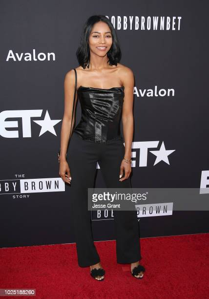 Natasha Marc attends the premiere screening of The Bobby Brown Story presented by BET and Toyota at the Paramount Theatre on August 29 2018 in...