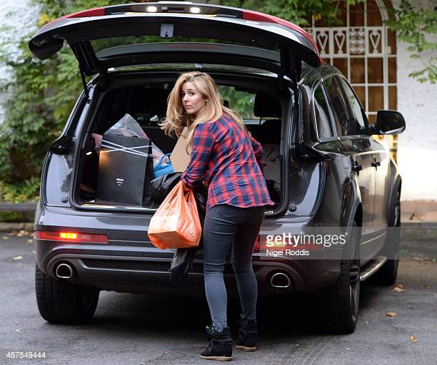 Natasha Massey girlfriend of Former Sheffield United footballer Ched Evans at Alderley Edge in Cheshire on October 20 2014 in Alderley Edge England...
