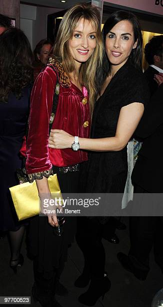 Natasha McElhone and Jessica de Rothschild attend the Almeida 2010 Fundraising Gala at the Almeida Theatre on March 14 2010 in London England
