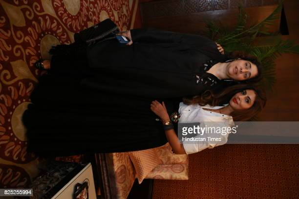 Natasha Nanda and Shweta Bachchan spotted during the India Couture Week 2017 on July 30 2017 in New Delhi India