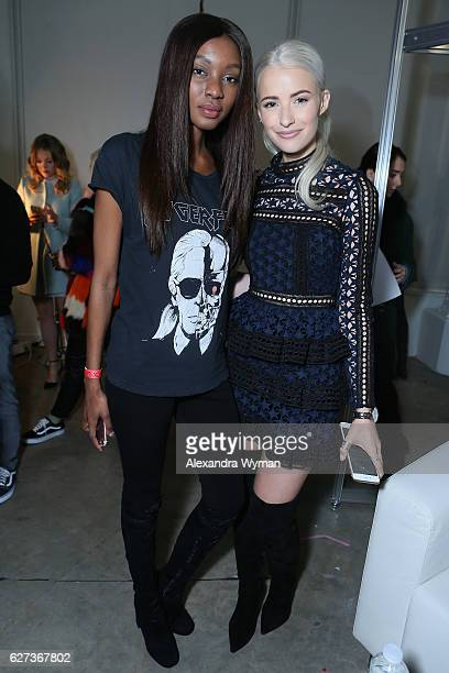 Natasha Ndlovu and InTheFrow attend Beautycon Festival London 2016 at Olympia London on December 3 2016 in London England