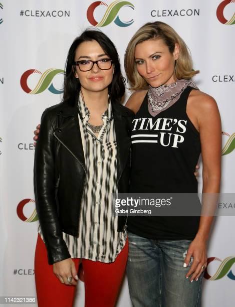 Natasha Negovanlis and Haviland Stillwell attend the ClexaCon 2019 convention at the Tropicana Las Vegas on April 12 2019 in Las Vegas Nevada