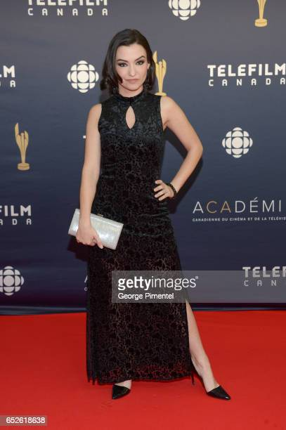 Natasha Negovanlis attends 2017 Canadian Screen Awards at Sony Centre For Performing Arts on March 12 2017 in Toronto Canada