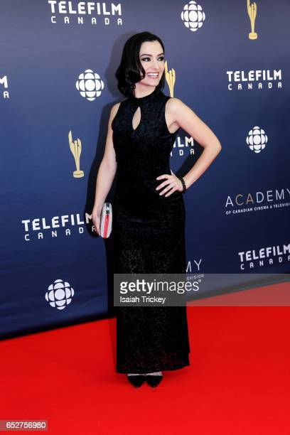 Natasha Negovanlis attends the Academy of Canadian Cinema Television's 2017 Canadian Screen Awards at the Sony Centre for Performing Arts on March 12...