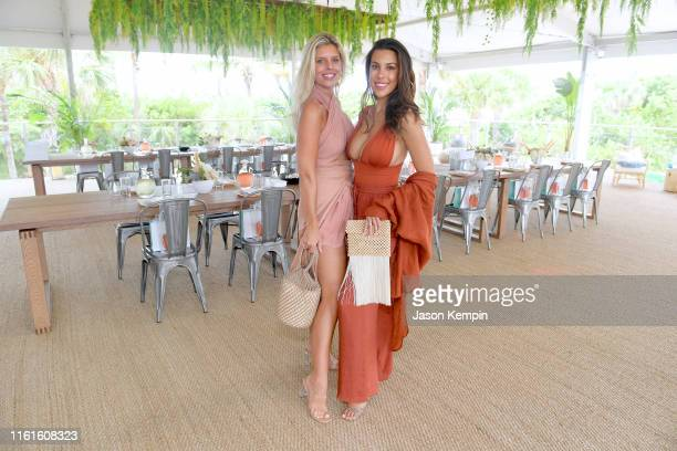 Natasha Oakley and Devin Brugman attend as JNSQ Serves Its Rosé Cru And Sauvignon Blanc At The Miami Swim Week Influencer Brunch Hosted By Natasha...