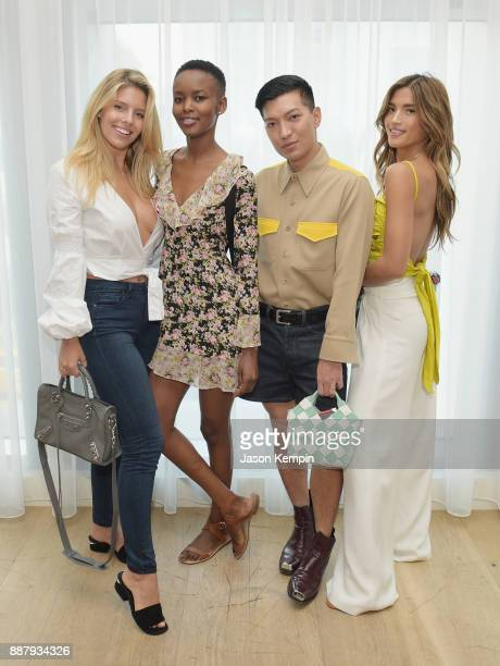 Natasha Oakley Flaviana Matata Bryan Boy and Rocky Barnes attend Room 2022 An Installation By Es Devlin Presented By American Express Platinum At The...