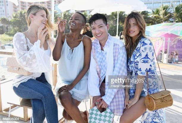 Natasha Oakley Flaviana Matata Bryan Boy and Rocky Barnes Celebrate Miami Art Week 2017 at The American Express Platinum House at The Miami Beach...