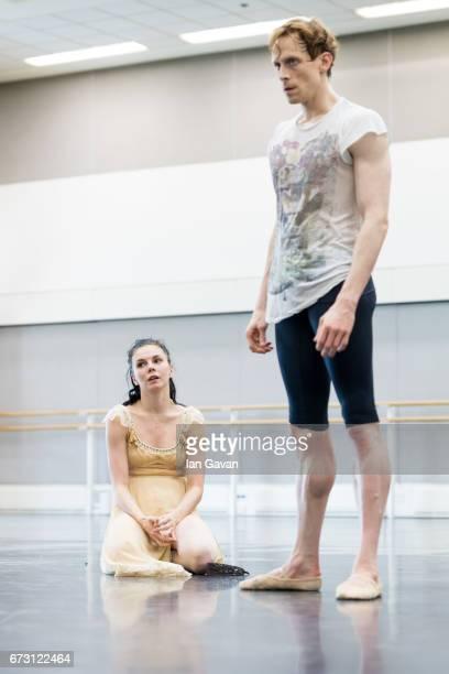 Natasha Osipova and Edward Watson from the Royal Ballet rehearse 'Mayerling' at The Royal Opera House on April 25 2017 in London United Kingdom The...