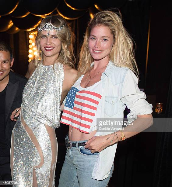 Natasha Poly and Doutzen Kroes attend Natasha Poly BDAY party in Amsterdam on July 12 2015 in Amsterdam Netherlands