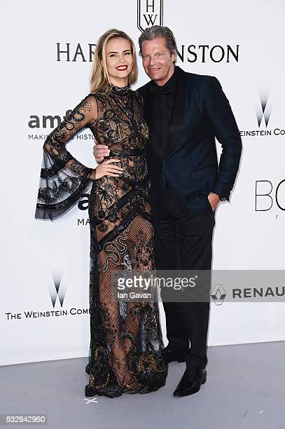 Natasha Poly and guest arrive at amfAR's 23rd Cinema Against AIDS Gala at Hotel du CapEdenRoc on May 19 2016 in Cap d'Antibes France