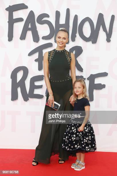 Natasha Poly and her daughter Aleksandra attend Fashion for Relief Cannes 2018 during the 71st annual Cannes Film Festival at Aeroport Cannes...