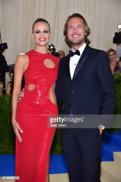 Natasha Poly and Lance Lepere arrive at Rei Kawakubo/Comme des Garcons Art Of The InBetween Costume Institute Gala at The Metropolitan Museum on May...