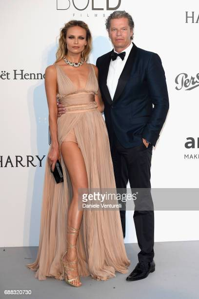 Natasha Poly and Peter Bakker arrive at the amfAR Gala Cannes 2017 at Hotel du CapEdenRoc on May 25 2017 in Cap d'Antibes France