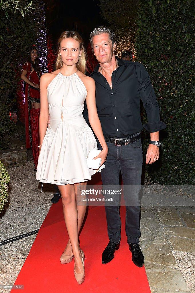 Natasha Poly and Peter Bakker attend Monika Bacardi Summer Party 2014 St Tropez at Les Moulins de Ramatuelle on July 27, 2014 in Saint-Tropez, France.