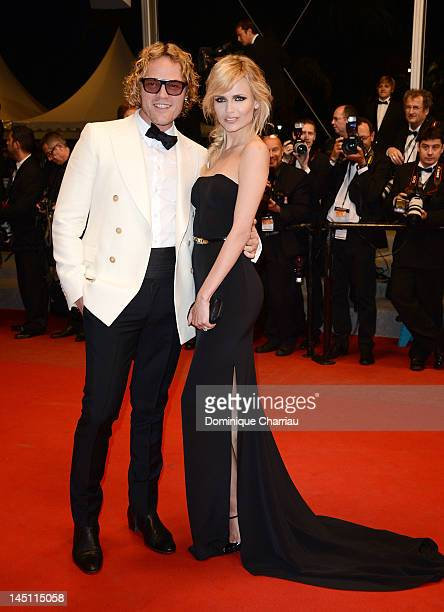 Natasha Poly and Pucci designer Peter Dundas attend the Holy Motors Premiere during the 65th Annual Cannes Film Festival at Palais des Festivals on...