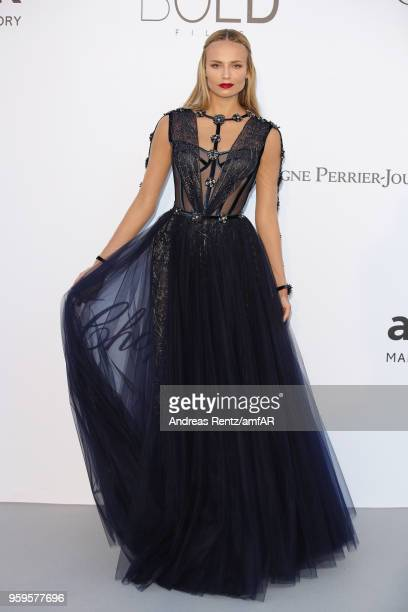 Natasha Poly arrives at the amfAR Gala Cannes 2018 at Hotel du CapEdenRoc on May 17 2018 in Cap d'Antibes France