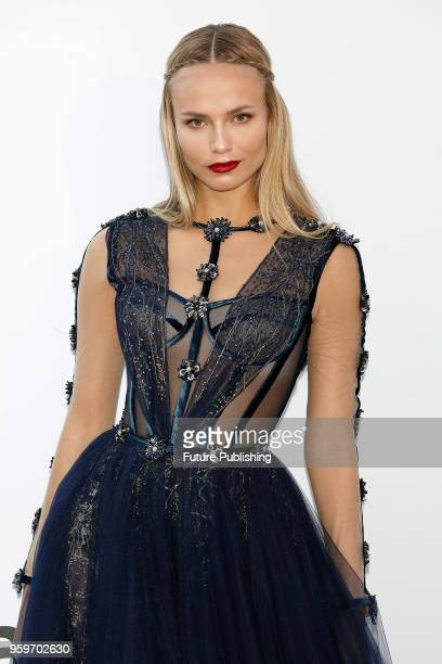Natasha Poly at the amfAR 25th Annual Cinema Against AIDS gala at the Hotel du CapEdenRoc in Cap d'Antibes France during the 71st Cannes Film...