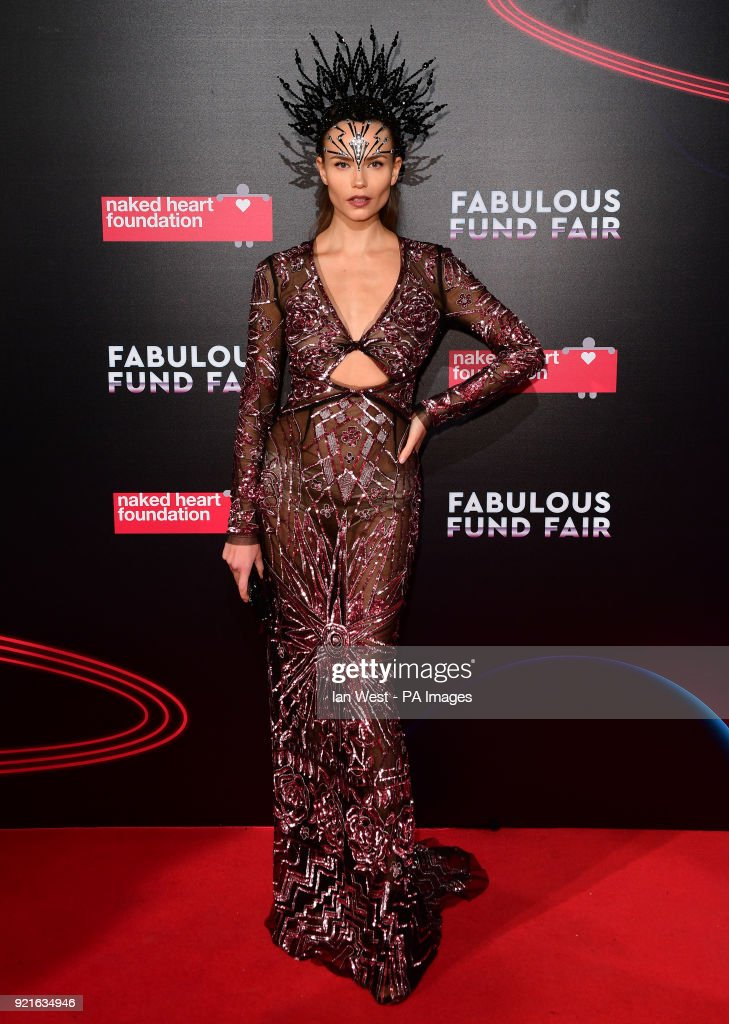 Natasha Poly attending the Naked Heart Foundation Fabulous Fun dFair held at The Roundhouse in Chalk Farm, London.