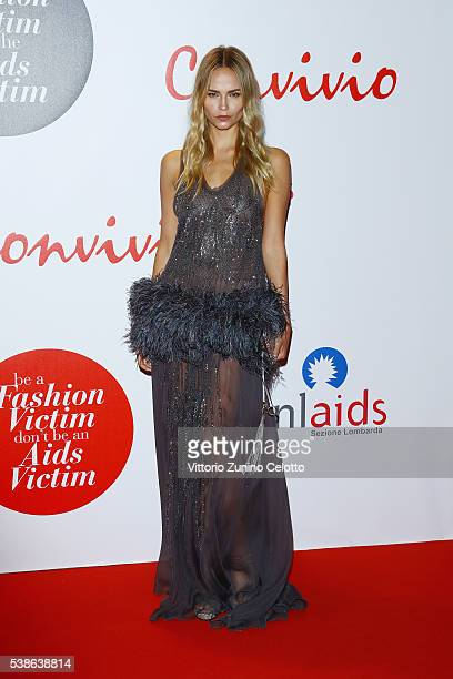 Natasha Poly attends Convivio 2016 photocall on June 7 2016 in Milan Italy