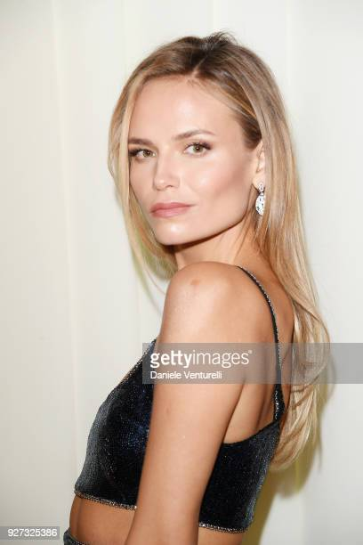 Natasha Poly attends Elton John AIDS Foundation 26th Annual Academy Awards Viewing Party at The City of West Hollywood Park on March 4 2018 in Los...