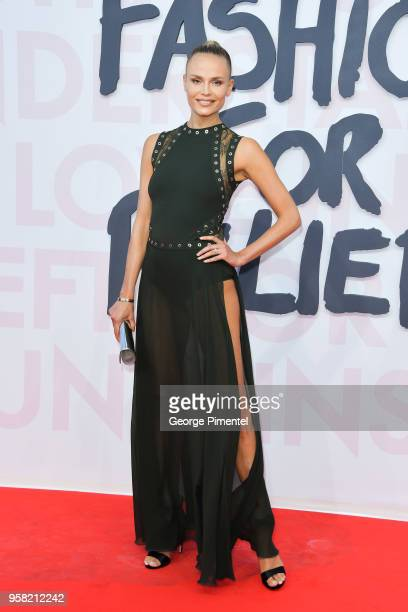 Natasha Poly attends Fashion For Relief Cannes 2018 during the 71st annual Cannes Film Festival at Aeroport Cannes Mandelieu on May 13 2018 in Cannes...