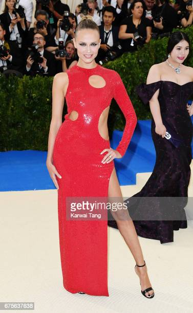 Natasha Poly attends 'Rei Kawakubo/Comme des Garcons Art Of The InBetween' Costume Institute Gala at Metropolitan Museum of Art on May 1 2017 in New...