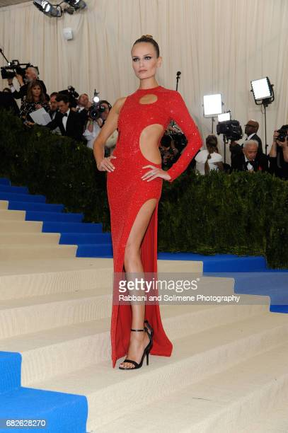 Natasha Poly attends 'Rei Kawakubo/Comme des Garcons Art Of The InBetween' Costume Institute Gala Arrivals at Metropolitan Museum of Art on May 1...