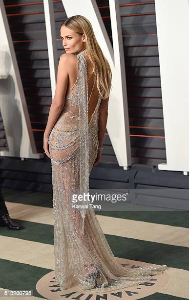 Natasha Poly attends the 2016 Vanity Fair Oscar Party Hosted By Graydon Carter at Wallis Annenberg Center for the Performing Arts on February 28 2016...