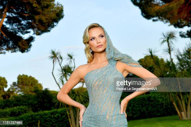 Natasha Poly attends the amfAR Cannes Gala 2019 at Hotel du Cap-Eden-Roc on May 23, 2019 in Cap d'Antibes, France.