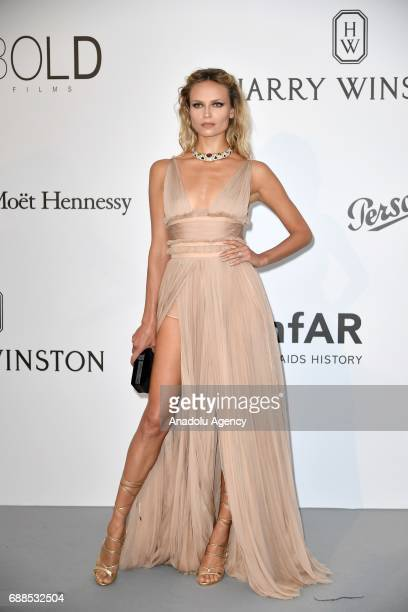 Natasha Poly attends the Amfar Gala at Hotel du CapEdenRoc 2017 in Cap d'Antibes France on May 26 2017