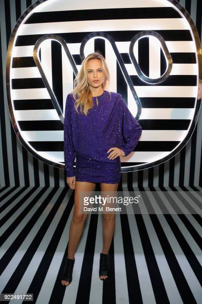 Natasha Poly attends the Brits Awards 2018 After Party hosted by Warner Music Group Ciroc and British GQ at Freemasons Hall on February 21 2018 in...