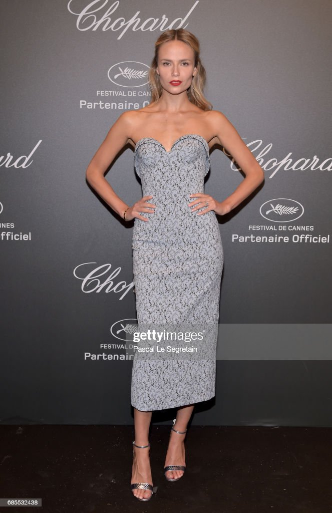 "Natasha Poly attends the Chopard ""SPACE Party"", hosted by Chopard's co-president Caroline Scheufele and Rihanna, at Port Canto on May 19, 2017, in Cannes, France."