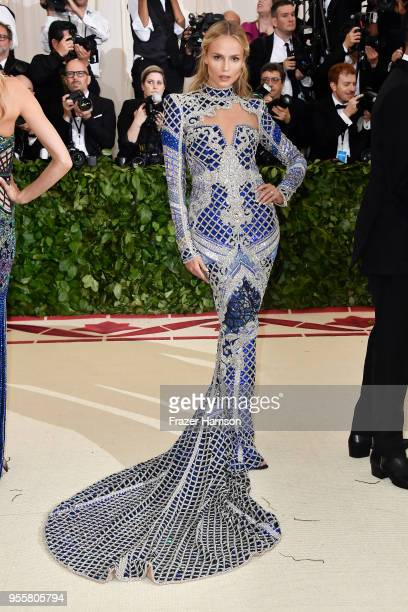 Natasha Poly attends the Heavenly Bodies Fashion The Catholic Imagination Costume Institute Gala at The Metropolitan Museum of Art on May 7 2018 in...
