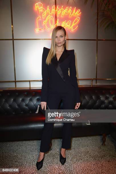 Natasha Poly attends the 'L'Oreal Paris Dinner Hosted By Julianne Moore' as part of the Paris Fashion Week Womenswear Fall/Winter 2017/2018 on March...