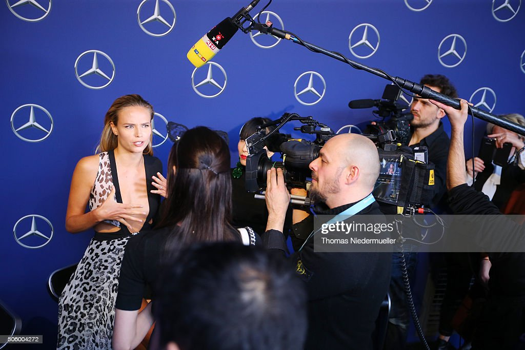 Natasha Poly attends the Mercedes-Benz Fashion Talk during the Mercedes-Benz Fashion Week Berlin Autumn/Winter 2016 at Brandenburg Gate on January 21, 2016 in Berlin, Germany.