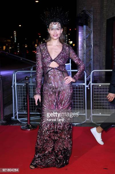 Natasha Poly attends the Naked Heart Foundation's Fabulous Fund Fair during London Fashion Week February 2018 at the Roundhouse on February 20 2018...
