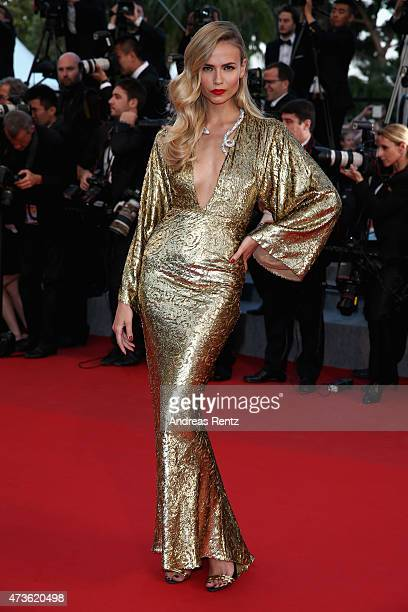 """Natasha Poly attends the Premiere of """"The Sea Of Trees"""" during the 68th annual Cannes Film Festival on May 16, 2015 in Cannes, France."""
