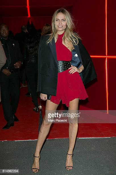 Natasha Poly attends the Red Obsession party to celebrate L'Oreal Paris's partnership with Paris Fashion Week on March 8 2016 in Paris France L'Oreal...