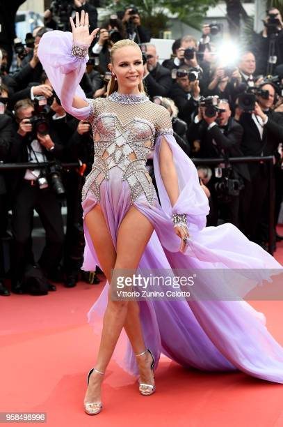"""Natasha Poly attends the screening of """"BlacKkKlansman"""" during the 71st annual Cannes Film Festival at Palais des Festivals on May 14, 2018 in Cannes,..."""