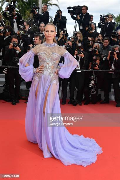 Natasha Poly attends the screening of 'BlacKkKlansman' during the 71st annual Cannes Film Festival at Palais des Festivals on May 14 2018 in Cannes...