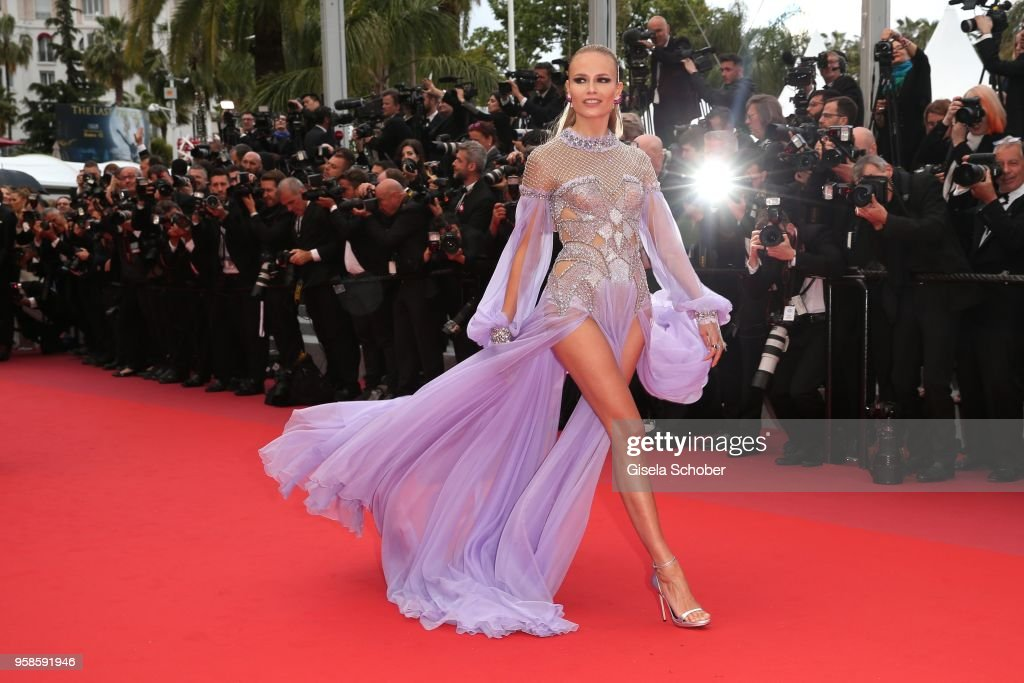 Natasha Poly attends the screening of 'BlacKkKlansman' during the 71st annual Cannes Film Festival at Palais des Festivals on May 14, 2018 in Cannes, France.