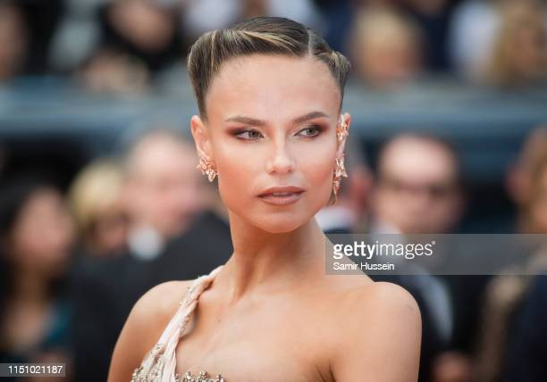 """Natasha Poly attends the screening of """"Oh Mercy! """" during the 72nd annual Cannes Film Festival on May 22, 2019 in Cannes, France."""
