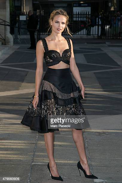 Natasha Poly attends the Versace show as part of Paris Fashion Week Haute Couture Fall/Winter 2015/2016 on July 5 2015 in Paris France