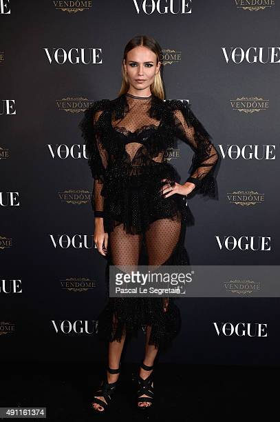 Natasha Poly attends the Vogue 95th Anniversary Party on October 3 2015 in Paris France