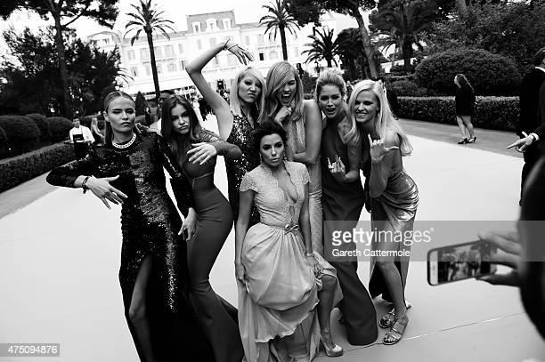Natasha Poly, Barbara Palvin, Soo-Joo Park, Eva Longoria, Karlie Kloss, Doutzen Kroes and Lara Stone attend amfAR's 22nd Cinema Against AIDS Gala,...