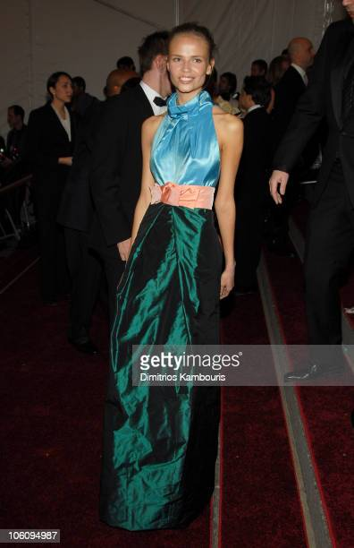 Natasha Poly during AngloMania Costume Institute Gala at The Metropolitan Museum of Art Arrivals Celebrating AngloMania Tradition and Transgression...