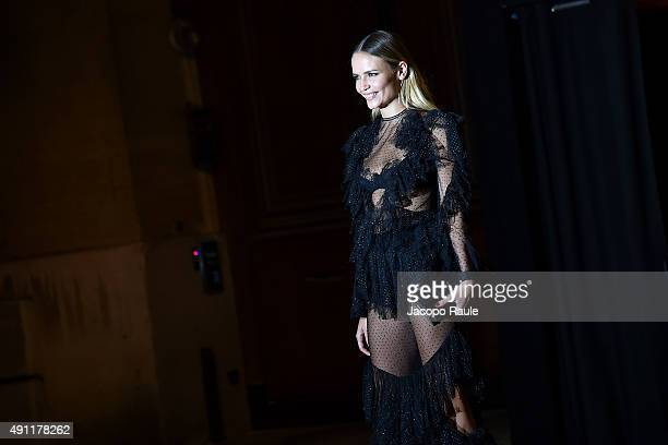 Natasha Poly is seen arriving at Vogue 95th Anniversary Party during the Paris Fashion Week Ready To Wear S/S 2016 Day Five on October 3 2015 in...