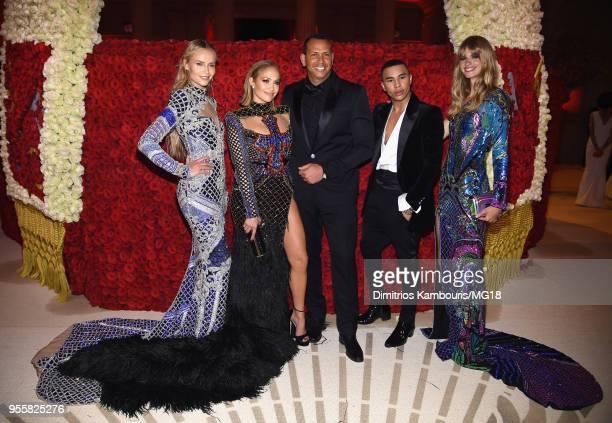 Natasha Poly Jennifer Lopez Alex Rodriguez Olivier Rousteing and Julia Stegner attend the Heavenly Bodies Fashion The Catholic Imagination Costume...