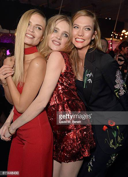 Natasha Poly Natalia Vodianova and Karlie Kloss at The Naked Heart Foundation's Fabulous Fund Fair in London at Old Billingsgate Market on February...